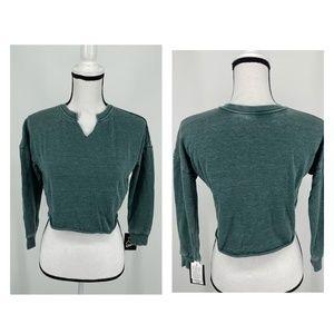 Art Class Girls' Cut Out V-Neck Sweatshirt Green